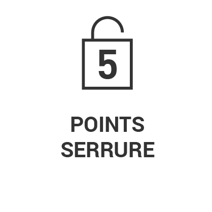 Serrure 5 points
