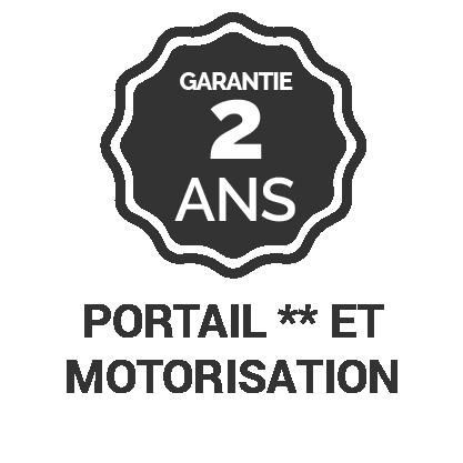 Garantie 2 ans* portail et motorisation