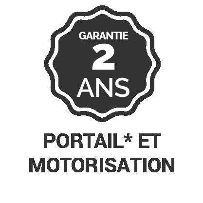 Garantie 2 ans portail et motorisation