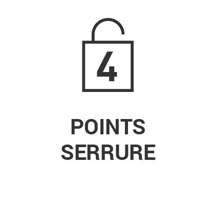 Serrure 4 points