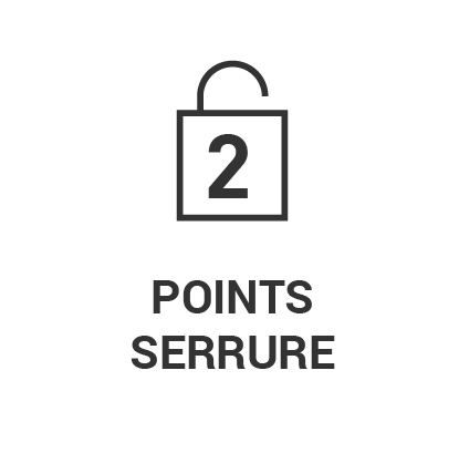 Serrure 2 points