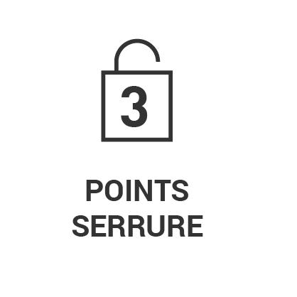 Serrure 3 points